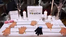 The day our TOUCH gloves were firstly introduced at Young Enterprise Trade Fair!